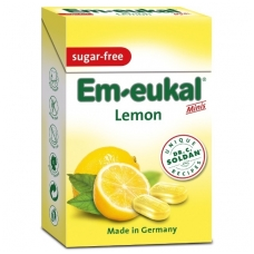 Em-eukal® CITRINŲ pastilės su vitaminu C ir saldikliais Minis (dėžutėje)