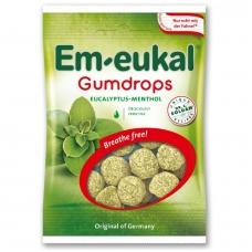 Em-eukal® Guminukai su eteriniais aliejais ir cukrumi EUKALIPTAS-MENTOLIS