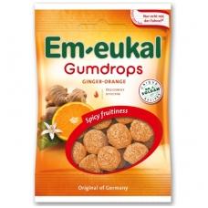 Em-eukal® Guminukai su eteriniais aliejais ir cukrumi  IMBIERAS-APELSINAS