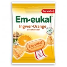 Em-eukal® IMBIERŲ ir APELSINŲ pastilės su vitaminu C ir saldikliais
