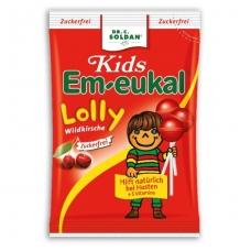 Em-eukal® Kids LAUKINĖS VYŠNIOS ledinukai ant pagaliuko Lolly su saldikliais