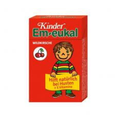 Em-eukal® Kinder LAUKINĖS VYŠNIOS pastilės su 5 vitaminais ir cukrumi (dėžutėje)