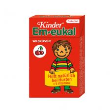Em-eukal® Kinder LAUKINĖS VYŠNIOS pastilės su 5 vitaminais ir saldikliais (dėžutėje)