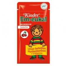 Em-eukal® Kinder LAUKINĖS VYŠNIOS pastilės su 5 vitaminais ir saldikliais