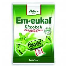 Em-eukal® KLASIKINIO skonio pastilės su eukaliptu ir cukrumi