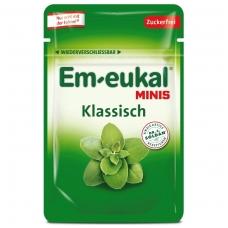 Em-eukal® KLASIKINIO skonio pastilės su eukaliptu ir saldikliais MINIS