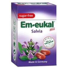 Em-eukal® ŠALAVIJŲ pastilės su vitaminu C ir saldikliais Minis (dėžutėje)