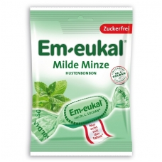 Em-eukal® ŠVELNIŲ MĖTŲ pastilės su saldikliais