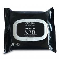 GOSH DONODERM makiažo valymo servetėlės su miceliniu vandeniu