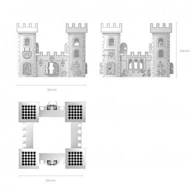 """Spalvinamas rinkinys ARTBERRY """"Riterių pilis"""", 25 cm 4"""