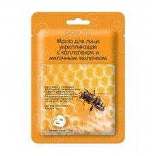 Stiprinamoji veido kaukė su kolagenu ir bičių pieneliu